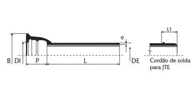 Desenho técnico Tubo classe K7