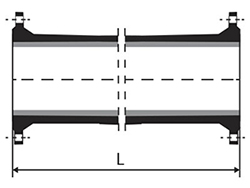 Technical drawing Pipe Flange flange with or without sealing flap
