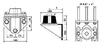 Desenho técnico Mancal intermediário