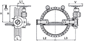 Desenho técnico Válvula Borboleta