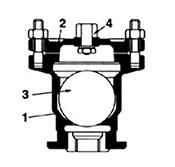 Desenho técnico Ventosa simples com rosca