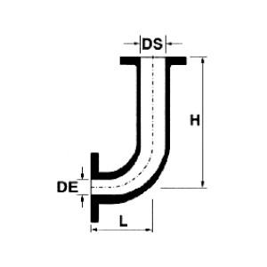 Dibujo técnico Curva Disimétrica con Bridas