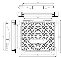 Dibujo técnico tapón para estacionamiento Parxes AR
