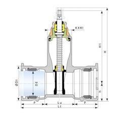 Dibujo técnico válvula Euro 25