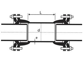 Dibujo técnico Tubo de Correr con Bolsa Brida Mecánica