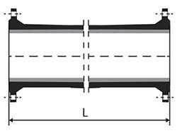 Dibujo técnico Tubo brida brida con o sin aba de vedación