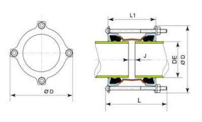 Desenho técnico Luva Ultralink