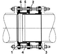 Desenho técnico Junta de Desmontagem Travada Axialmente JDTA 1
