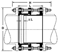 Desenho técnico Junta de Desmontagem Travada Axialmente JDTA 2