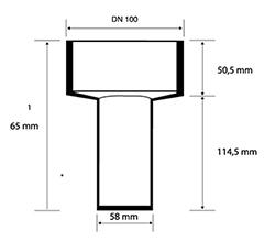Desenho técnico Ralo Seco com Saída Vertical – 2