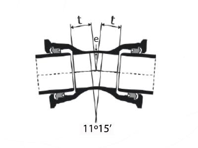 Desenho técnico Curva de 11 com Bolsas JTI
