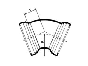 Desenho técnico Curva para rede gravitária