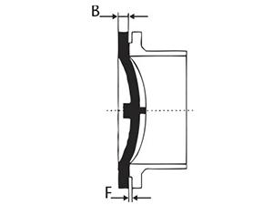 Desenho técnico Flange Cego 350 a 1200