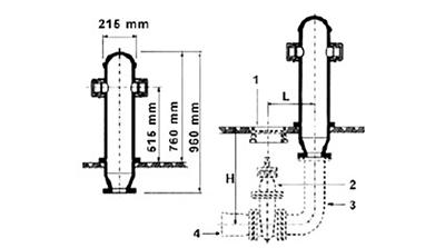 Desenho técnico Hidrante de Coluna com Curva
