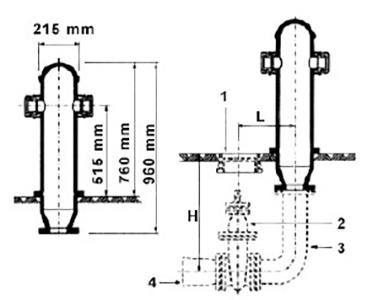 Desenho técnico Hidrante de coluna completo