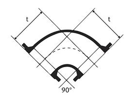 Desenho técnico Curva 90 com Flanges
