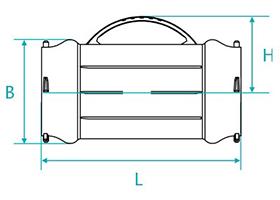 Desenho técnico Luva com bolsas para tubos PVC PBA