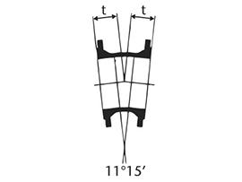 Desenho técnico Curva de 11 com Flanges