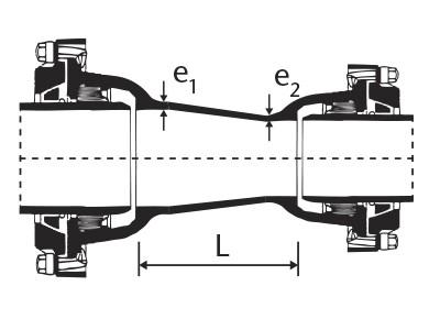 Desenho técnico Redução com Bolsas JTE