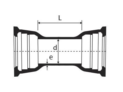 Desenho técnico Luva com Bolsas JGS