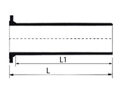 Desenho técnico Extremidade Flange e Ponta JGS e JTI