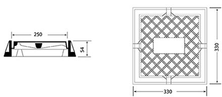Desenho técnico tampão para registro TD 19