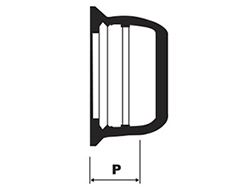 Desenho técnico CAP DN 80 a 250