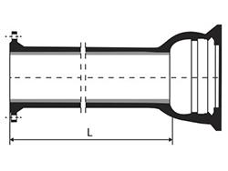 Desenho técnico Tubo flange bolsa com ou sem aba de vedação