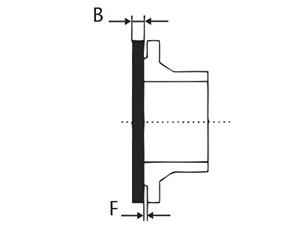 Desenho técnico Flange Cego - DN 50 a 200