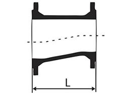 Desenho técnico Redução com Flanges Excêntrica