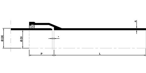 Desenho técnico Tubo Ponta e Bolsa