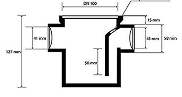 Desenho técnico Ralo Sifonado para Banheiro de Serviço 2