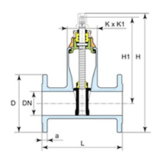 Desenho técnico válvula Euro 21